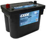 Startbatteri 50Ah AGM Tudor EK508  Exide TK508. LxBxH:260x173x206mm