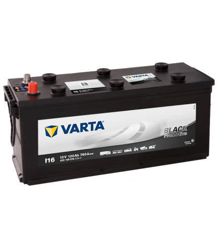 Startbatteri 12V 120 Ah Varta LxBxH=480/510x175x235mm ProMotive Black I16PRO  HD120 620109076