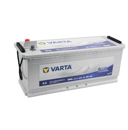 Startbatteri 12V 140Ah Varta K8 LxBxH=480/513x189x223mm Pro Blue HD140