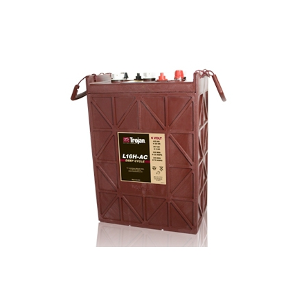 TROJAN L16H  batteri Deep-cycle 6V 435Ah LxBxH:295x178x385/424mm