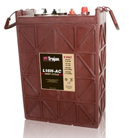 TROJAN L16H  batteri Deep-cycle 6V 435Ah LxBxH:295x178x385/424mm
