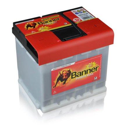 Bilbatteri 12V50Ah BannerPowerBullPRO P5040. LxBxH:210x175x190mm Bäst i Testfakta 2013 och 2015.