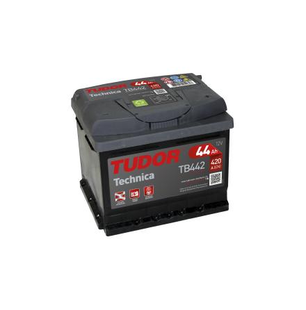Startbatteri 44Ah Tudor Exide TB442 Technica. LxBxH:207x175x175mm