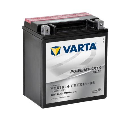Varta Mc batteri AGM 14Ah YTX16-BS-1