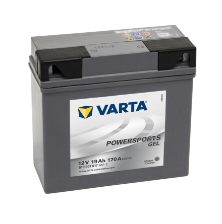 MC-Batteri 19 Ah YS12-19 5909010 Varta GEL lxbxh=186x82x173mm