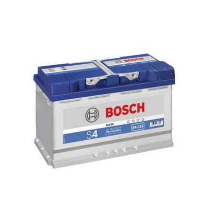 Bilbatteri 12V 80Ah Bosch S4011 DIN: 580400074 LxBxH:315x175x190mm