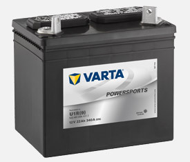 MC-batteri 22Ah Varta U1R-9 522451034 lxbxh=196x131x183mm