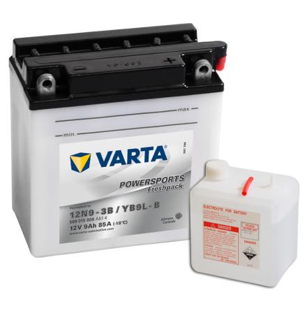 MC-batteri 9Ah Varta 12N9-3B YB9L-B VARTA Powerspo