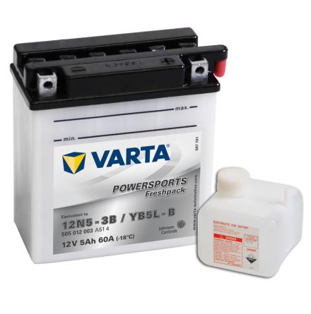 MC-batteri 5Ah 12N5-3B YB5L-B Varta Powersports 505012003