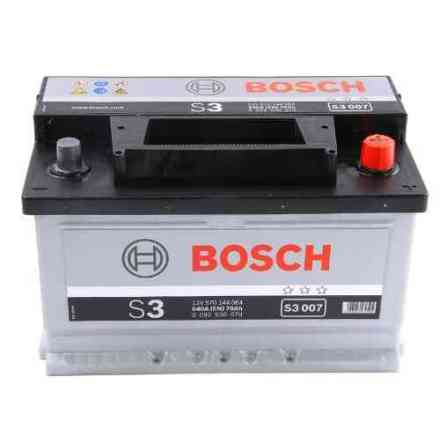 Bilbatteri 12V 70Ah Bosch S3007 DIN: 570144064 LxBxH:278x175x175mm