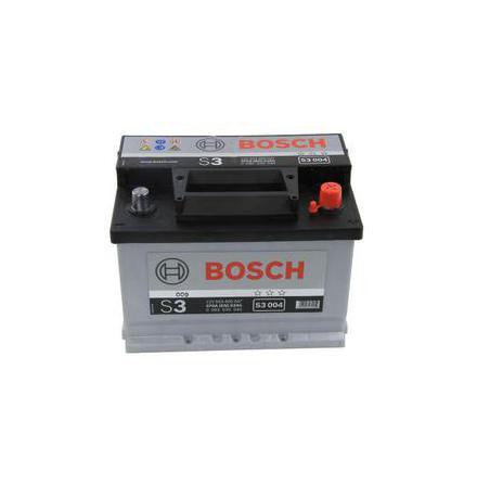 Bilbatteri 12V 53Ah Bosch S3004 DIN: 553400047 LxBxH:242x175x175mm
