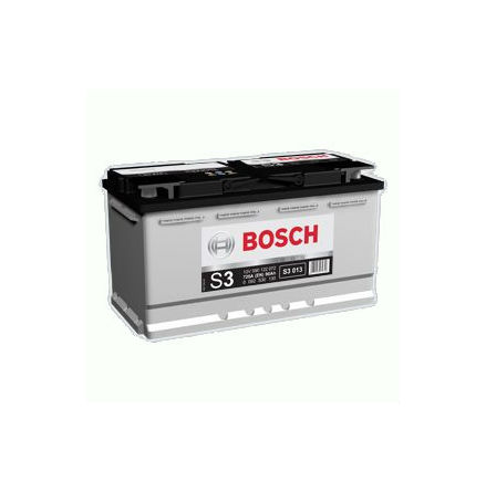 Bilbatteri 12V 90Ah Bosch S3013 DIN: 590122072 LxBxH:353x175x190mm