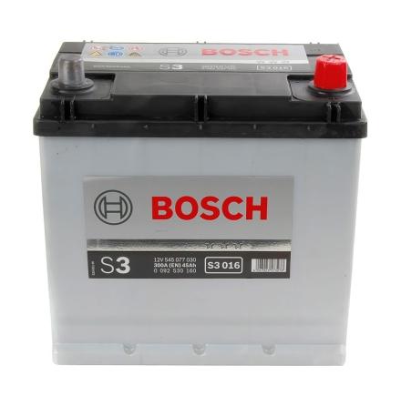 Bilbatteri 12V 45Ah Bosch S3 DIN: 545077030 LxBxH:219x135x225mm