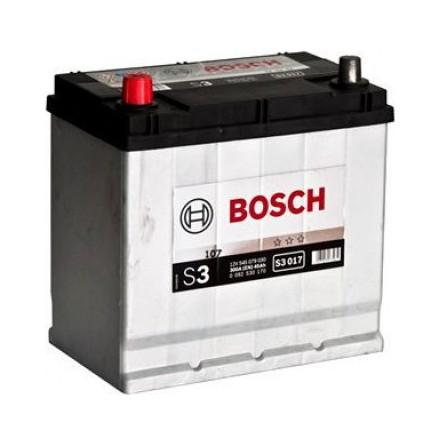 Bilbatteri 12V 45Ah Ah Bosch S3017 DIN: 545079030 LxBxH:219x135x225mm