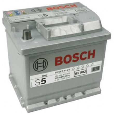 Bilbatteri 12V 54Ah Bosch S5002 DIN: 554400053 LxBxH:207x175x190mm