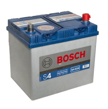 Bilbatteri 12V 60Ah Bosch S4024 DIN: 560410054 LxBxH:232x173x225mm