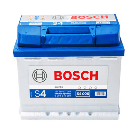 Bilbatteri 12V 60Ah Bosch S4006 DIN: 560127054 LxBxH:242x175x190mm