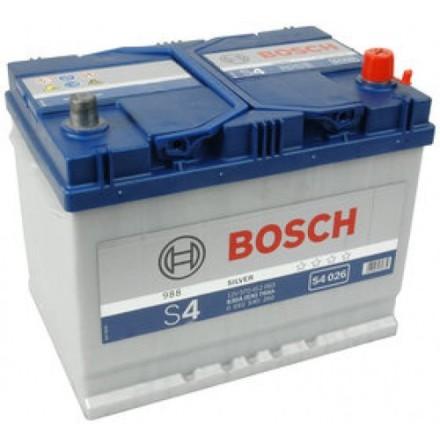 Bilbatteri 12V 70Ah Bosch S4026 DIN: 570412063 LxBxH:261x175x220mm