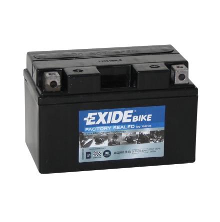 Tudor Exide MC batteri 8,6Ah AGM 12-8,6 YTX9-BS YTR9-BS YTX7A-BS YTZ10-BS YTZ10S
