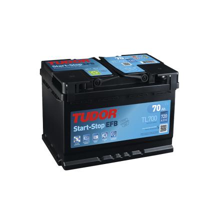 Startbatteri 70Ah EFB Tudor Exide TL700. LxBxH:278x175x190mm