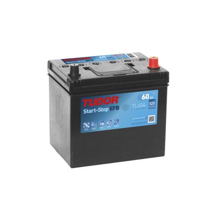 Startbatteri 60Ah Tudor Exide TL604 Start-Stop EFB. LxBxH:230x175x222mm