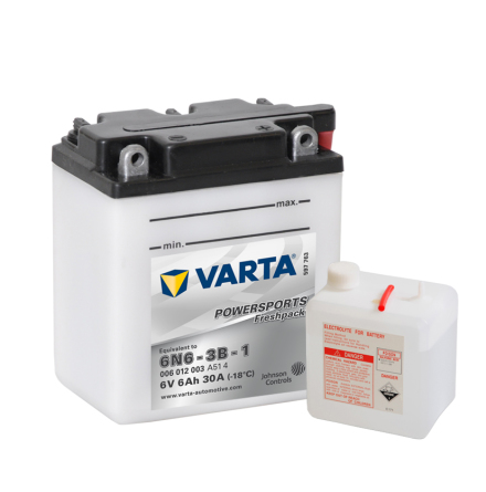 MC-batteri 6Ah 6N6-3B-1 Varta Powersports