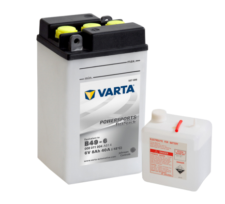 MC-batteri 8Ah B49-6 Varta Powersports lxbxh=91x83x160mm
