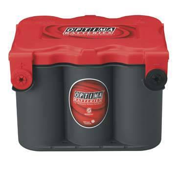 Startbatteri Optima 12V 50Ah  RedTop RTF4,2L 8078-209 LxBxH:254x185x184mm RTF4,2L 8078-109