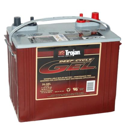 Trojan 24-GEL Gelbatteri 12V 77 Ah. LxBxH:276x171x236mm