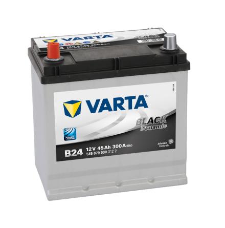 Bilbatteri 12V 45Ah Varta Black Dynamic B24 LxBxH=219x135x225mm 545079030