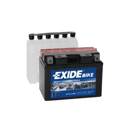 Tudor Exide MC batteri 11Ah AGM 4977 lxbxh= 150x87x110mm