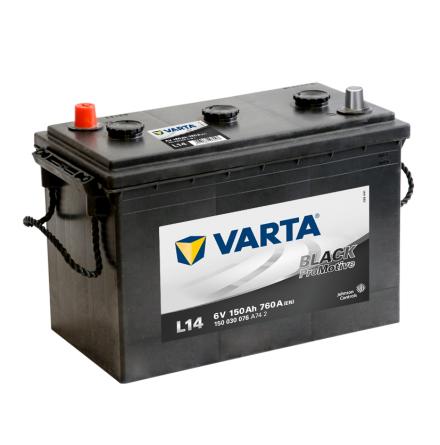 Bilbatteri Varta 6V/150Ah  L14 Black PRO black VP150 6V
