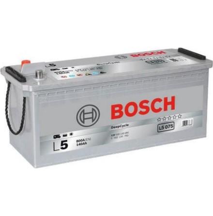 Fritidsbatteri 12V 140Ah Bosch L5075  LxBxH=LxBxH:470/513x189x223mm ETN 930140080. Kampanjpris 10% rabatt.