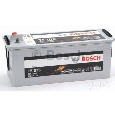 Startbatteri 12V 140Ah Bosch T5075 LxBxH:473/518x189x223mm DIN: 645400080 Kampanjpris 10% rabatt.
