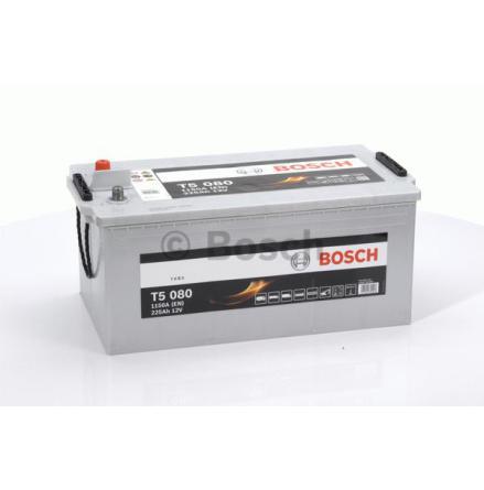Startbatteri 12V 225Ah Bosch T5080 DIN: 725103115 Kampanjpris med 15% rabatt.