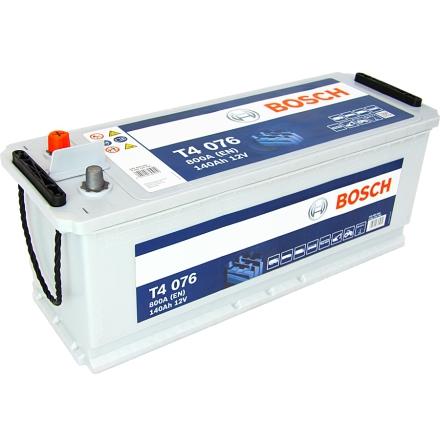 Startbatteri 12V 140 Ah Bosch T4076 DIN: 640400080