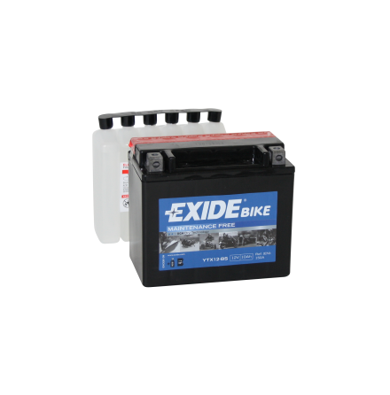 Tudor Exide MC batteri 10Ah AGM YTX12-BS 4596 lxbxh=150X90X130mm