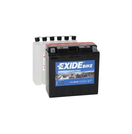 Tudor Exide MC batteri 12Ah AGM YT14B-BS 4907 lxbxh=150X70X145mm