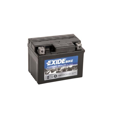 Tudor Exide MC batteri 3Ah AGM12-4 4908 YB4L-A YB4L-B YTL4-BS lxbxh=115X70X85mm