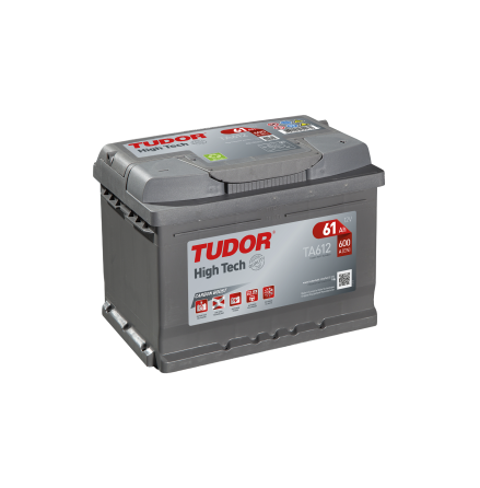 Startbatteri 61Ah Tudor Exide TA612 High Tech. LxBxH:242x175x175mm