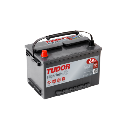 Startbatteri 68Ah Tudor Exide TA681 High Tech. LxBxH:270x173x222mm