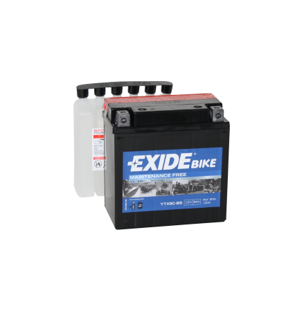 Tudor Exide MC batteri 9Ah AGM YTX9C-BS 4962 lxbxh=135X75X140mm
