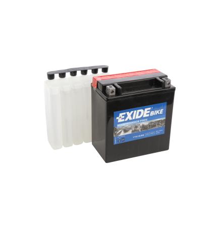 Tudor Exide MC batteri 14Ah AGM YTX16-BS 4974 lxbxh=150X90X160mm