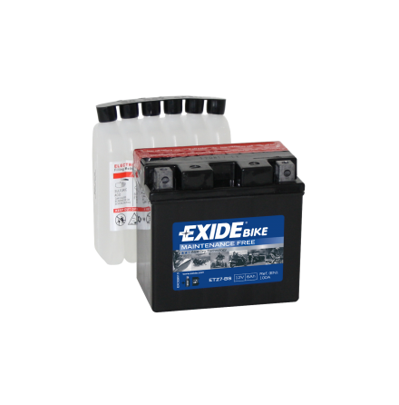 Tudor Exide MC batteri 6Ah AGM ETZ7-BS 4975 lxbxh=115X70X105mm