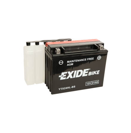 Tudor Exide MC batteri 21Ah AGM YTX24HL-BS 4994 lxbxh=205X90X165mm