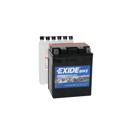 Tudor Exide MC batteri 12Ah AGM YTX14AHL-BS 4996 lxbxh=135X90X165mm