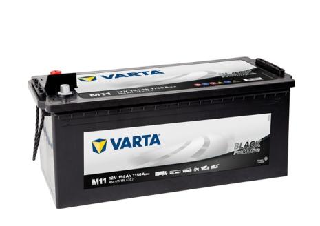 Startbatteri Varta 12V 154Ah M11 Black LxBxH=480/513x189x223mm  HD154 654011115 A742