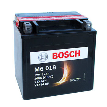 MC batteri 12Ah YTX14-BS Bosch M6018 AGM LxBxH:152x88x147mm