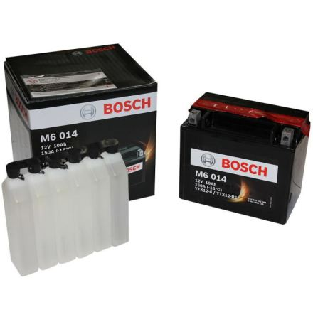 MC batteri 10Ah YTX12-BS Bosch M6014 AGM LxBxH:152x88x131mm
