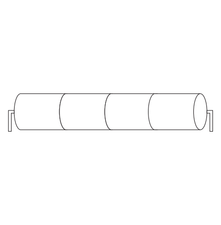 Batteripack 4,8V 0,94 Ah kabel rörända, NiCd, Nödljusbatteri